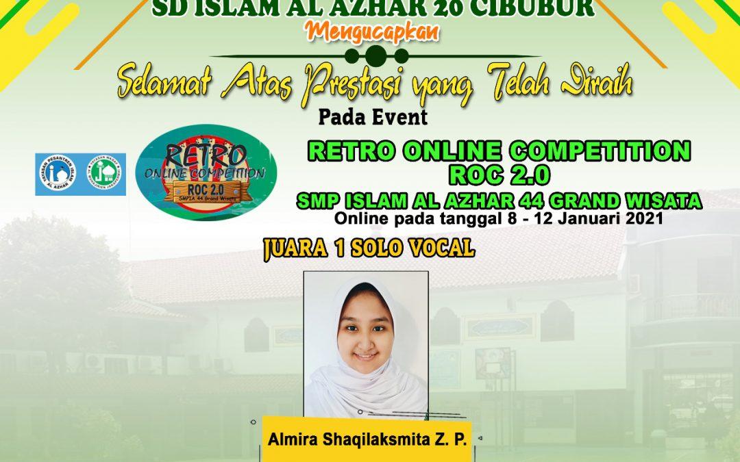 Prestasi Ananda Almira dalam event Retro Online Competition Roc. 2.0